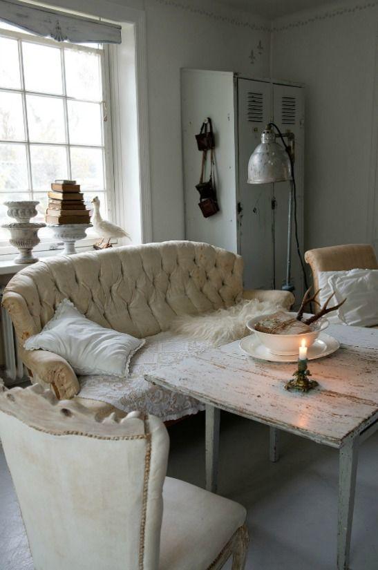 2678 besten salas brancas  whites rooms Bilder auf Pinterest - shabby chic deko wohnzimmer