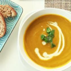 Carrot and fresh coriander soup @ allrecipes.co.uk made this and it was yummy.