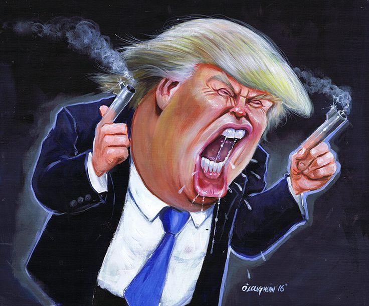 Donald Trump acrylic | Donald Trump Caricature - Niall O'Loughlin - Wedding Caricature ...