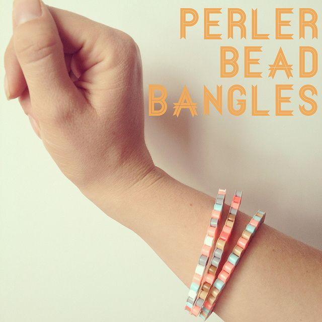 Perler Bead Bangles from Amy at The Southern Institute.