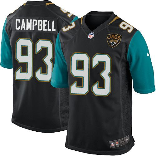 Youth Nike Jacksonville Jaguars #93 Calais Campbell Game Black Alternate NFL Jersey