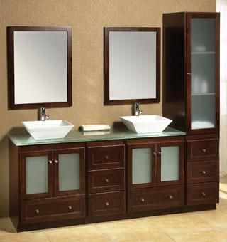 Ronbow shaker mc6050 double sink bathroom vanity dream for Bathroom cabinets 90