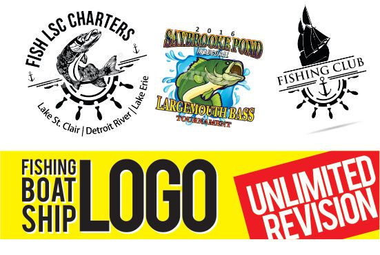 create your Fishing Club logo design in 48 hours
