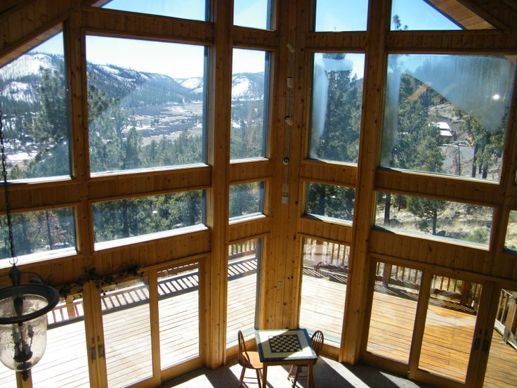 One of the best views in greer eagleview cabin at the for Cabins near greer az