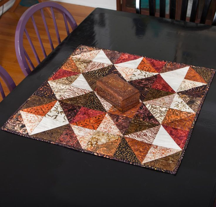 Timeless Treasures Illusion Squares Table Topper Kit