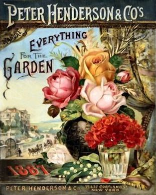 Vintage Seed Annual Catalog - Peter Henderson & Co, Everything for the Garden 1887 I updated some of the tears and markings - because i love this picture