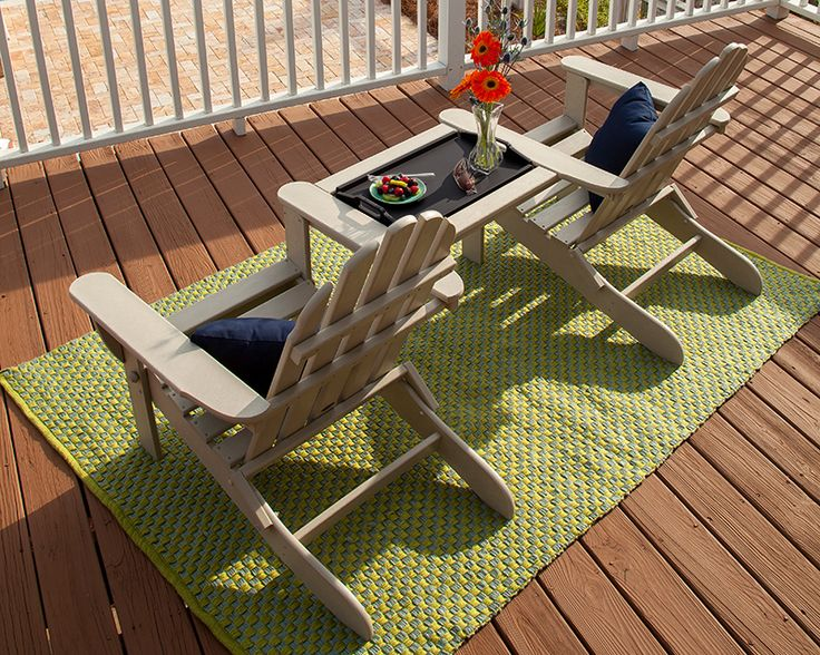 polywood tray tables perfect between your beloved polywood adirondacks - Polywood Adirondack Chairs