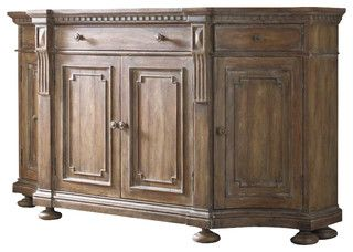 Credenza.... Hooker Furniture Sorella Shaped Credenza in Warm Brown - transitional - buffets and sideboards - by Cymax