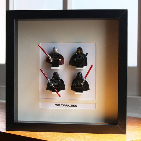 Star Wars Lego Mini Figures Framed - 'The Dark Side'