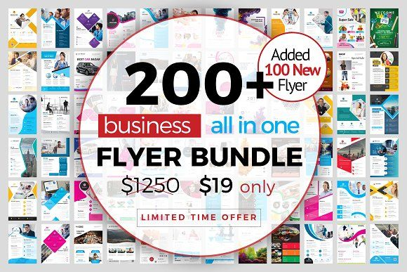 200+ Flyer Template Bundle 98% OFF by ZAAS on @creativemarket