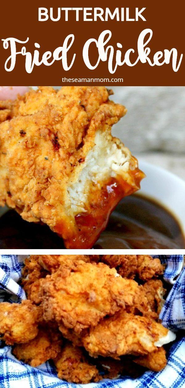 Crispy Buttermilk Fried Chicken In 2020 Fried Chicken Recipe Easy Best Fried Chicken Recipe Fried Chicken Recipes
