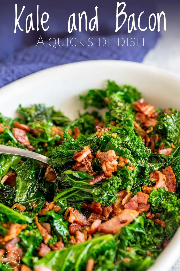 This Kale And Bacon Side Dish Is The Perfect Recipe For The Holidays Recipe For Kale Greens Thanksgiving Recipes Side Dishes Thanksgiving Side Dishes Healthy