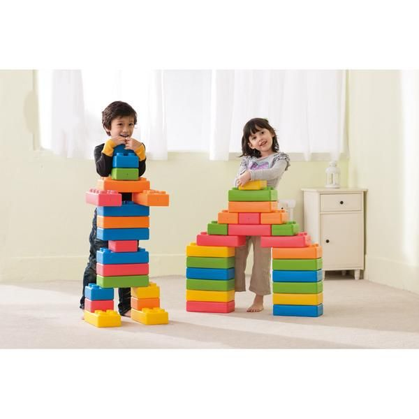 Great for developing hand/eye coordination and expanding children's imagination. These lightweight plastic interlocking bricks measure 25.5 x 12.5 x 6cm each.  Direct Delivery: Please note these items are direct from suppliers and may take up to four weeks.