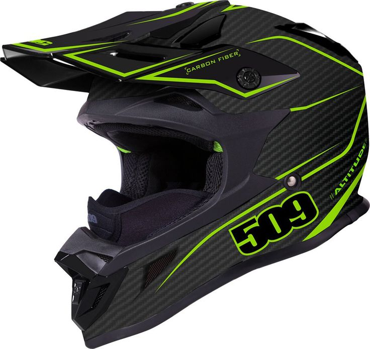 Altitude Carbon Fiber Helmet Lime Matte