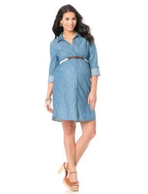 81ad14c4659fe Motherhood Maternity Petite Convertible Sleeve Belted Maternity Shirt Dress  | 2014 // style guide | Petite maternity dresses, Maternity dresses, ...