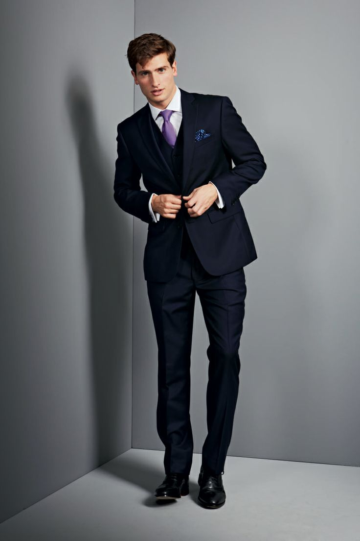 Our Navy Twill Business Suit Is Oozing With Jermyn Street