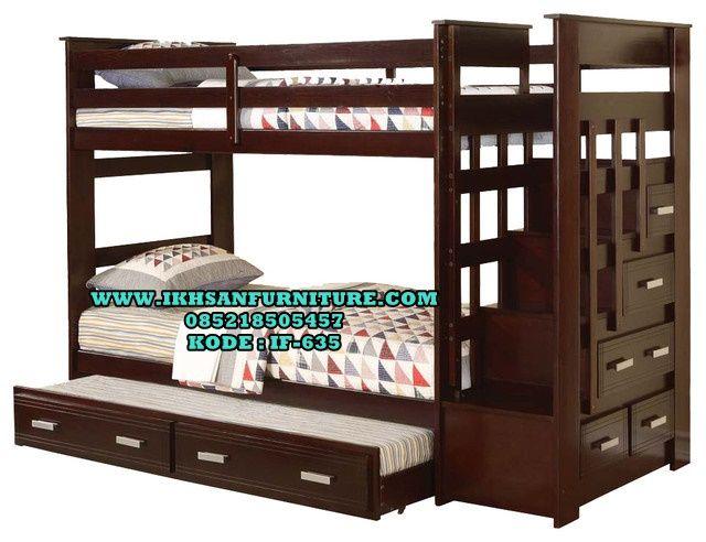 Tempat Tidur Anak Tingkat Minimalis Murah Cat Duco IF-635