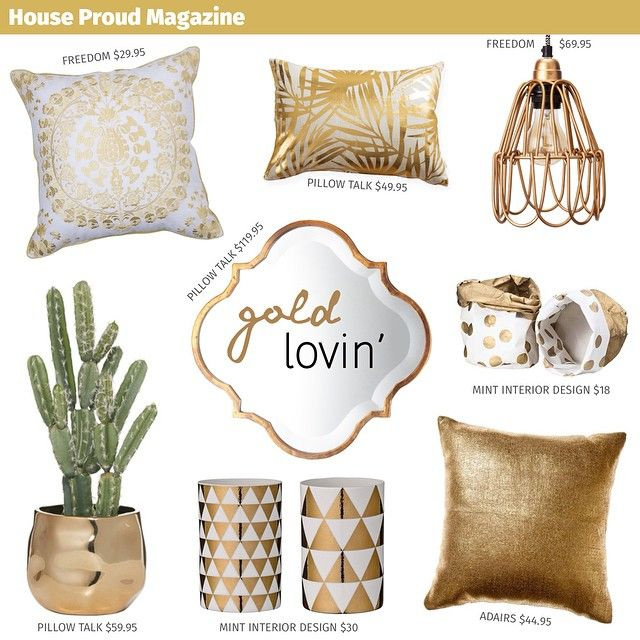 Who else is loving the gold trend? Here's some of our favourite gold decor finds. #adairs #freedomfurniture #freedomaw15 #pillowtalk #mintinteriordesign #homedecor #homewares #gold #interiordesign #interiorinspiration #moodboard #decor #style #lighting #cushions #brisbane #sunday #sundaystyle