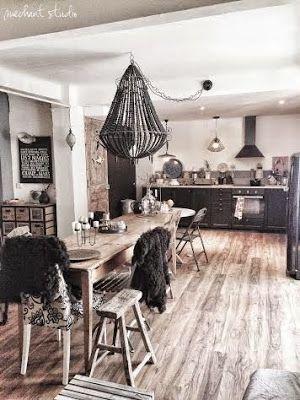 Méchant Studio Blog: my kitchen area - my place - Hanging light
