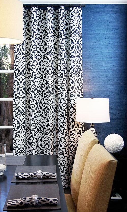 Custom Curtains And Drapery By DrapeStyle In Robert Allen Fabrics. Simple  Amor   Caviar #