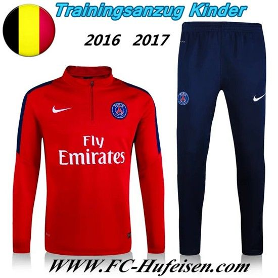 Schönsten Neue Fußball Trainingsanzug PSG Kinder Kits Rot 2016 2017 Meaney