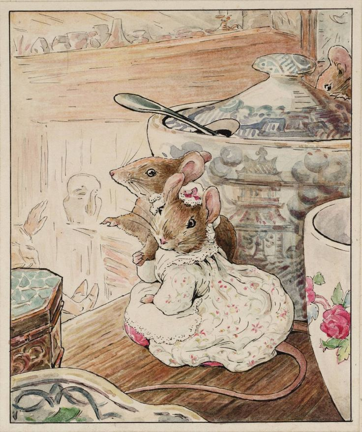 From my Beatrix Potter collection.  I love anything Beatrix Potter.