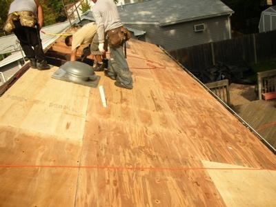 new roof installation rain