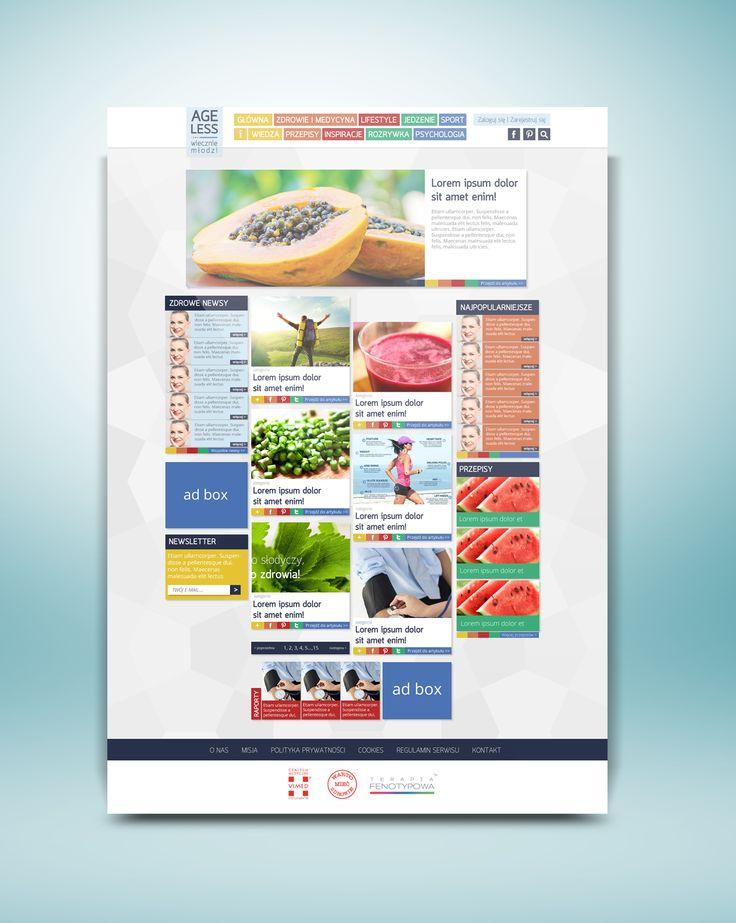 healthy lifestyle blog design