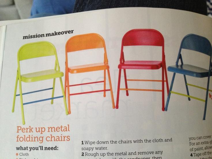 Paint Metal Folding Chairs Ideas Pinterest