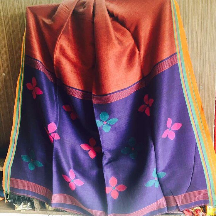 Linen #jamdani#saree