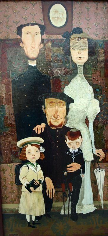 Maia Ramishvili - Jewish Family by Tiflis Avenue , via Behance
