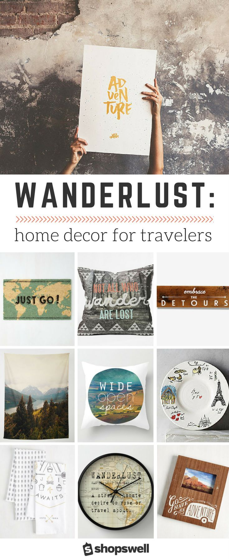 wanderlust a home decor collection for travelers - Travel Home Decor