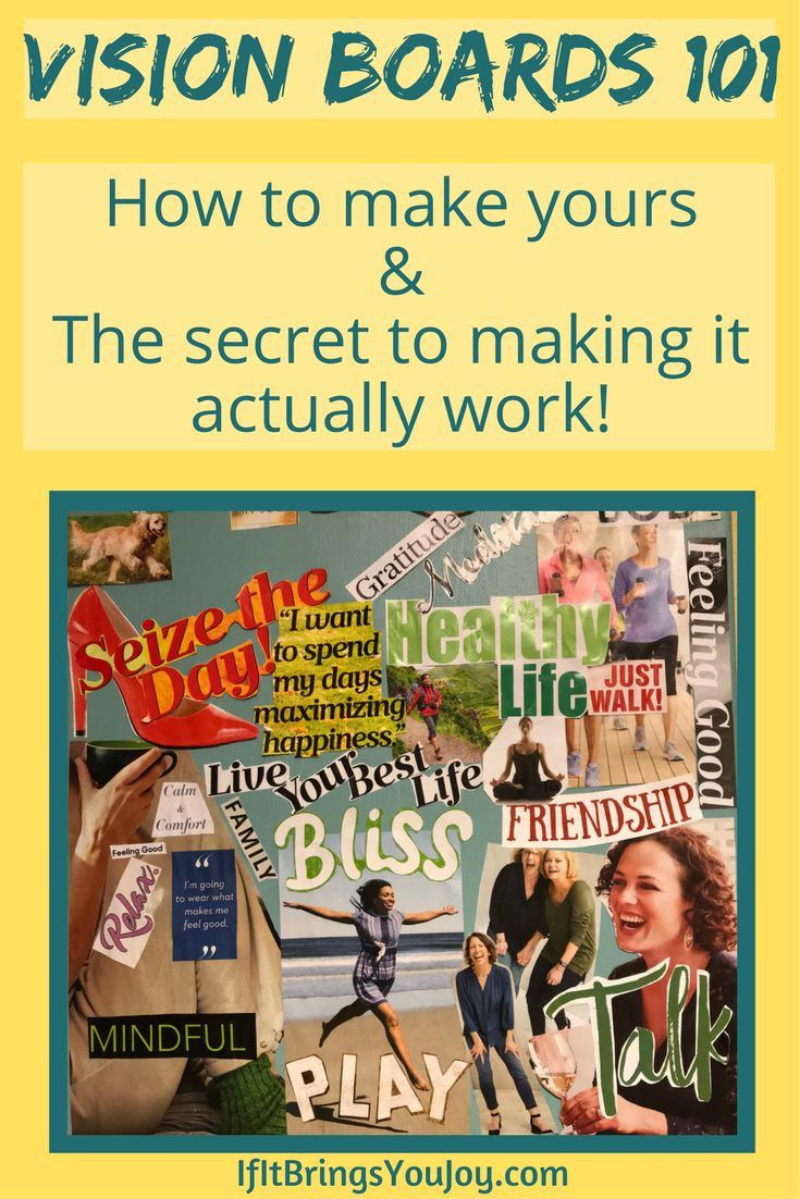 Learn how to bring your dreams to reality. Step-by-step guide to making a powerful vision board, and the secret to making your vision board actually work. #VisionBoard #dream #manifest