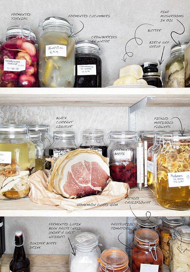 The fridge of Magnus Nilsson, chef at one of the most innovative restaurants in the world Faviken in Sweden