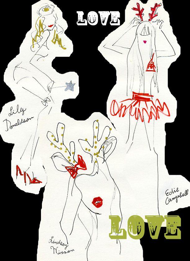 ☆★☆Merry X'mas☆★☆ クリスマス気分いっぱいのLove magazineのスペシャルページがすごい!! セクシーでキュートなモデル達をチェックして☆ 私のお気に入りは12/1のリンジー(Lindsey Wixson)、12/21のカーリー・クロス(Karlie Kloss)、12/23のエディ(Edie Campbell)、12/24のリリー・ドナルドソン(Lily...