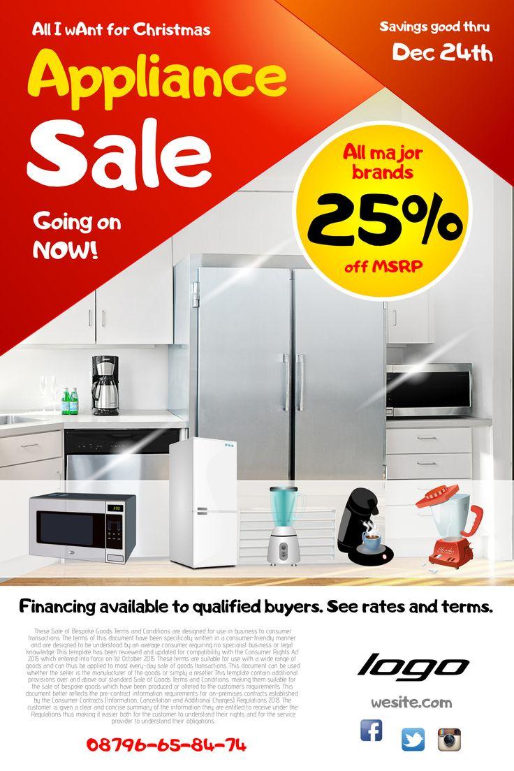 Poster design rates - Appliance Sale Poster Design