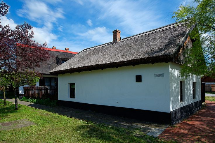 An old 17th century thatched fisherman's cottage along the banks of the river Tisza in Csongrad, Hungary.