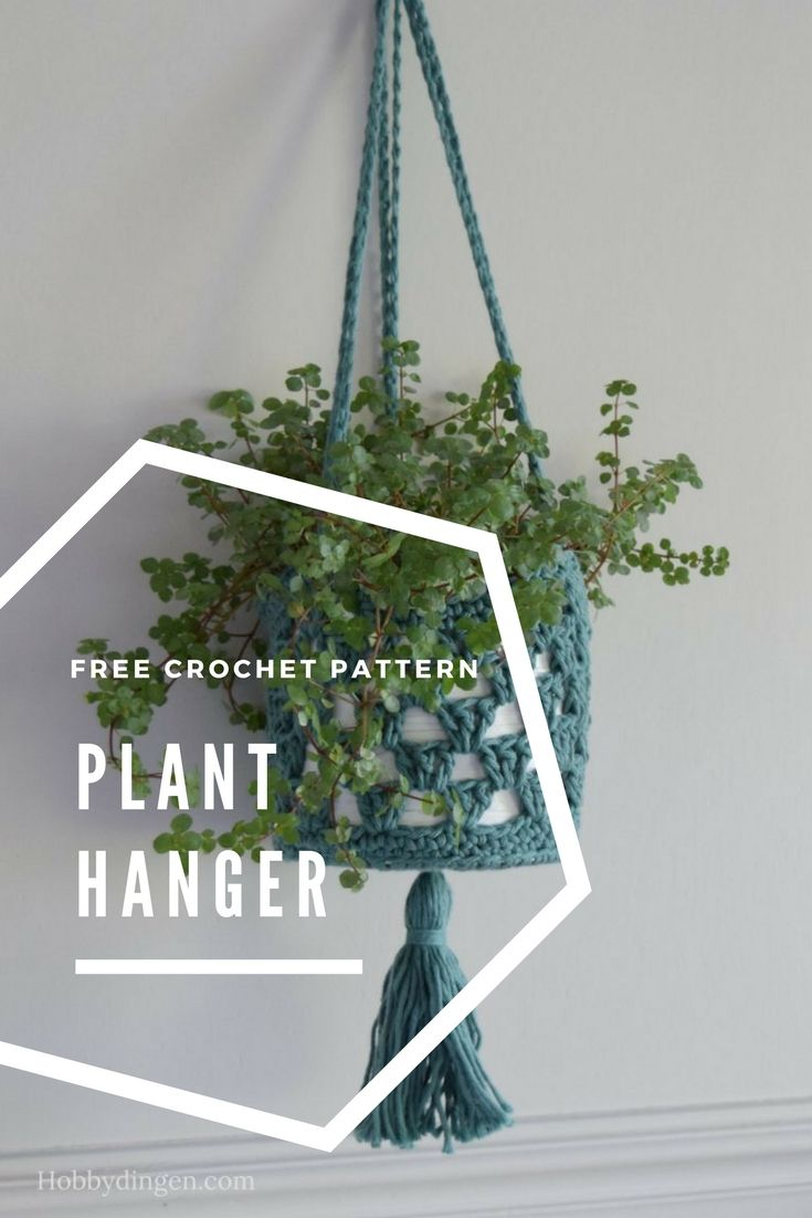 Today we are sharing the free crochet pattern for this awesome plant hanger! Make this really easy plant hanger to get ready for spring. Have fun crocheting! **You can purchase the add free pattern…