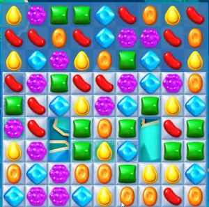 Bears in Candy Crush Soda Level 53 are hidden underneath the frozen tiles. The bears are 2 by 4 tiles in size. A part of the bear will show where the rest ...