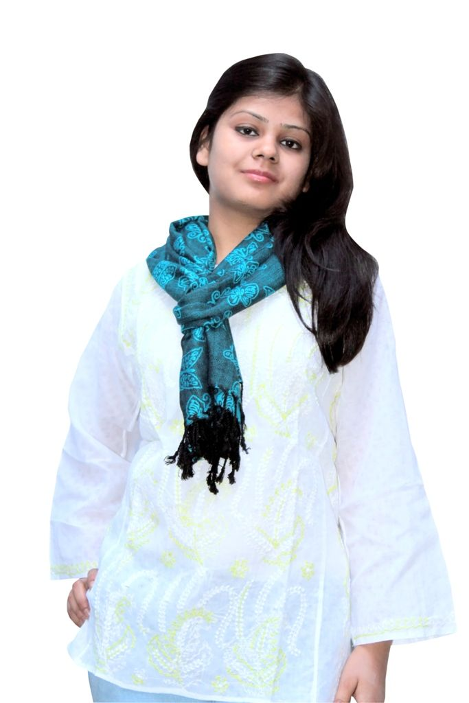 blue viscose stole from lucknow. You can shop from www.troverna.com on cash on delivery