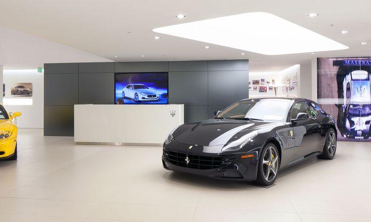 Stretch Ceiling Systems @ Ferrari Dealership in Wilsonville