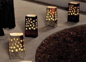 """DIY luminaries...I did these for a """"red carpet affair"""" themed event!"""