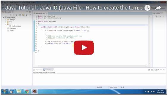 ramram43210,J2EE,Java,java tutorial,java tutorial for beginners,java tutorial for beginners with examples,java programming,java programming tutorial,java video tutorials,java basics,java basic tutorial,java basics for beginners,java interview questions and answers,java basic concepts,java basics tutorial for beginners,java programming language,java io,java io tutorial,file handling in java,file class in java,java file class,file handling