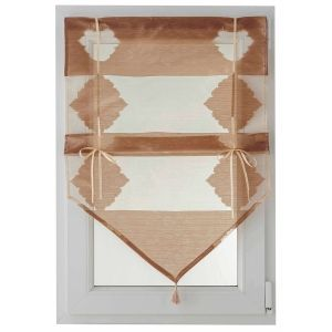 Brise-bise triangle avec liens à serrer et passe tringle