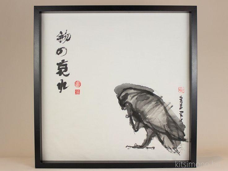 Taka – fude – sumi: Sólyom tussal és ecsettel 6/1. - A sólymot ábrázoló japán sumi - e ihletésű festmény egy hat képből álló sorozat első táblája. A sólyom ( taka ) a legkecsesebb ragadozó madarak egyike, mely kedvelt témája a tradicionális japán tusfestményeknek, tusfestőknek.