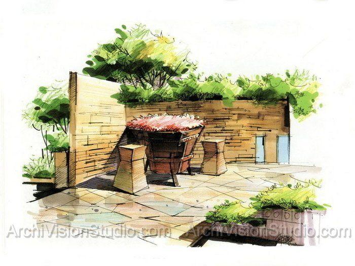 120 best sketch images on Pinterest Landscape design