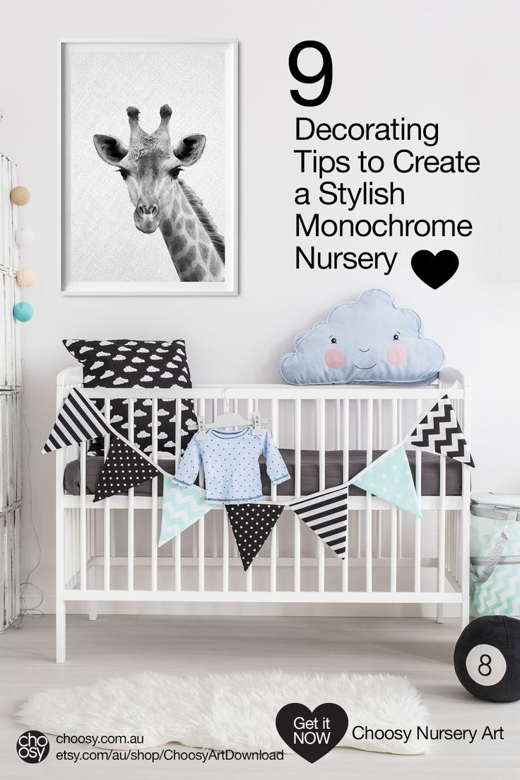 Black and White Can Be Cute - see our decorating tips for monochrome nurseries
