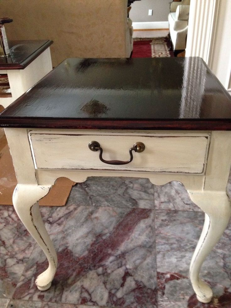 Best 25+ Painted end tables ideas on Pinterest | Refinished end tables, Refurbished end tables ...