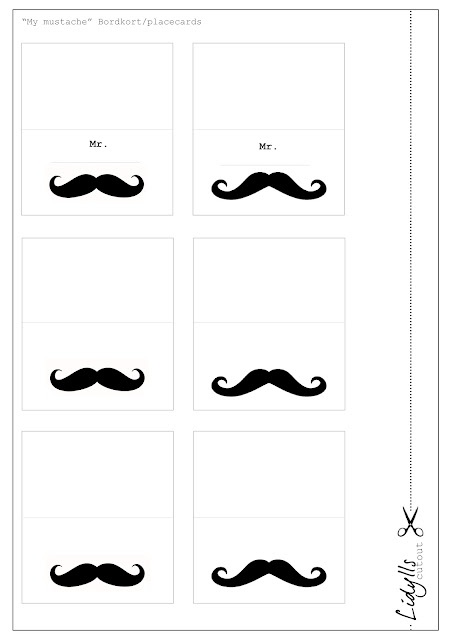~Tafel-naamkaartjes om uit te printen~: Mustache Parties, Moustache Free Printable, Moustache Co, Moustaches ️, Bowler Bordkort, Mustache Fun