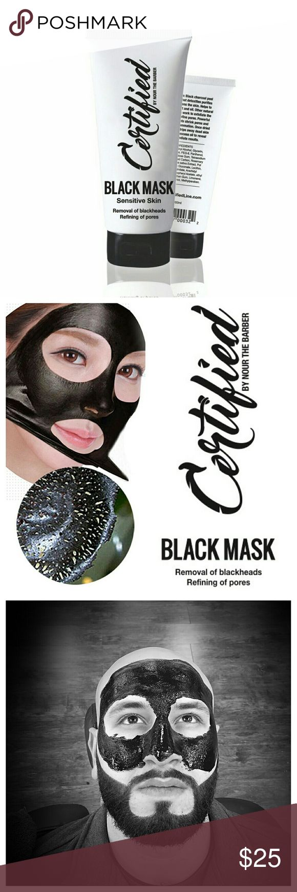 🆕 • Sensitive Black Peel Off Mask • CERTIFIED BY NOUR THE BARBER Black mask Tried once! Sephora Makeup